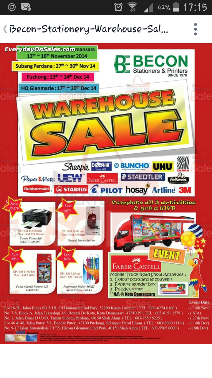 Tips Penjimatan: Warehouse Sales Electrolux