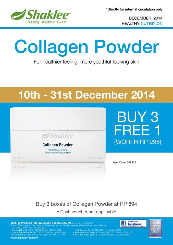 Promosi Collagen Powder memang berbaloi