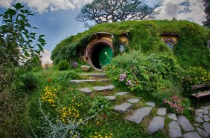 Hobbit village di New Zealand