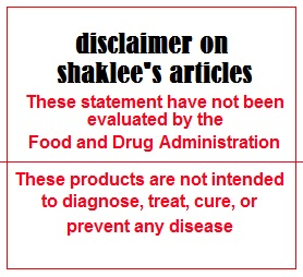 disclaimer artikel shaklee