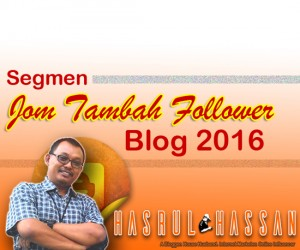 Segmen Jom Tambah Follower Tahun 2016