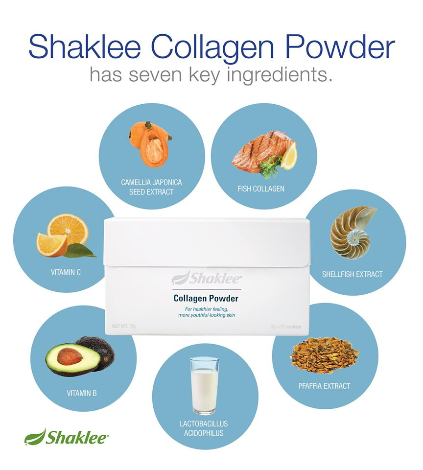 7 ramuan Shaklee Collagen Powder