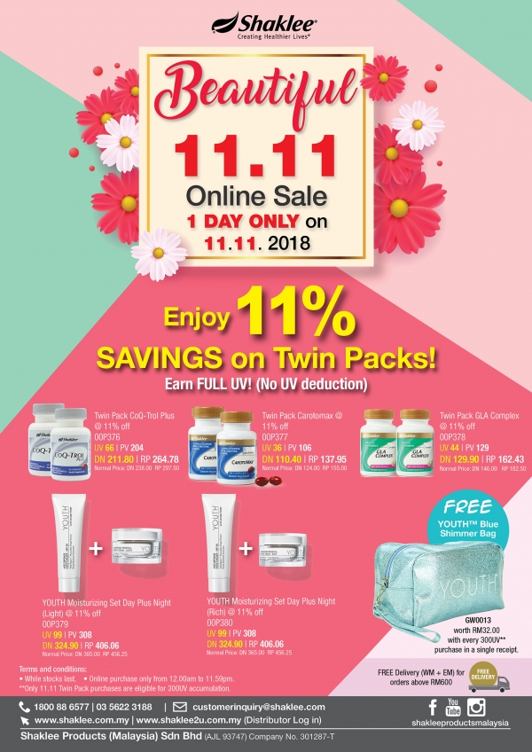 Promo 11.11 Shaklee Biggest Sale