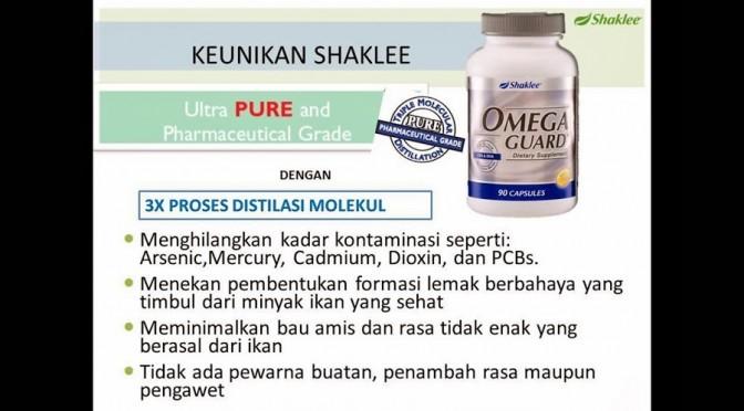 Prosess Distilasi Molekul Berperingkat menjamin Omega Guard tanpa bahan tercemar
