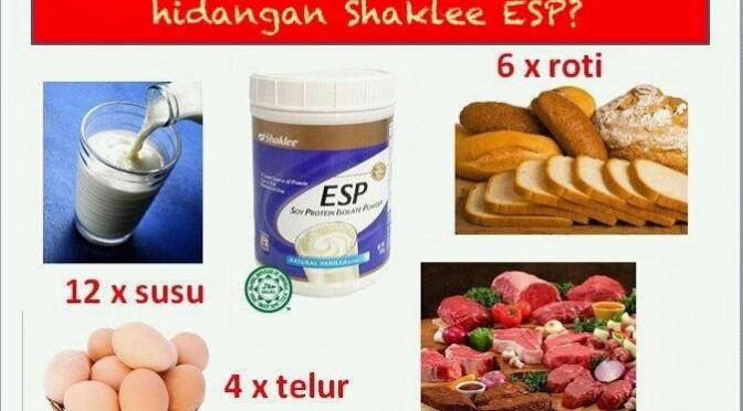 Nilai 1 hidangan Shaklee ESP