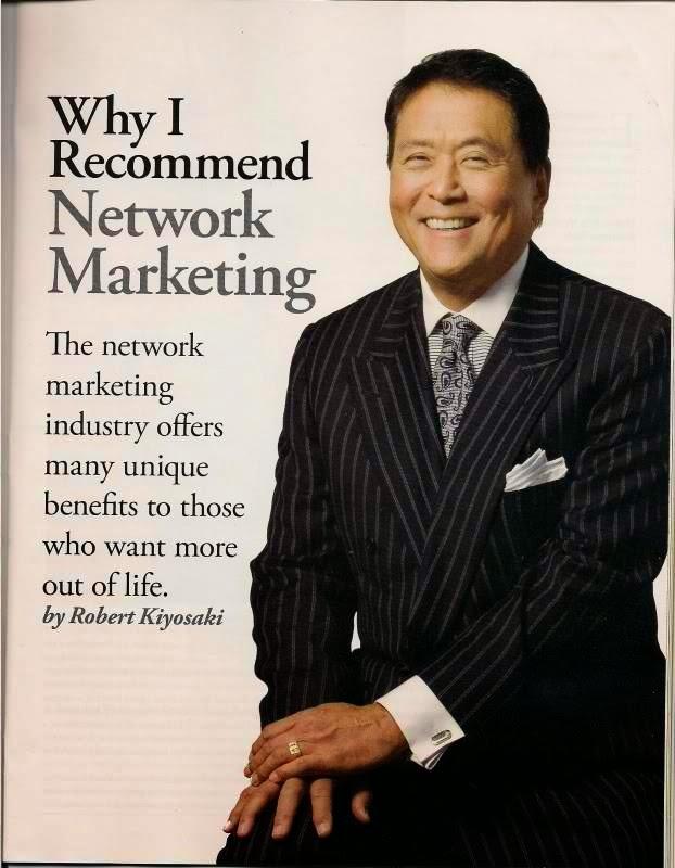 Robert Kiyosaki mencadangkan network marketing sebagai bisnes masa hadapan