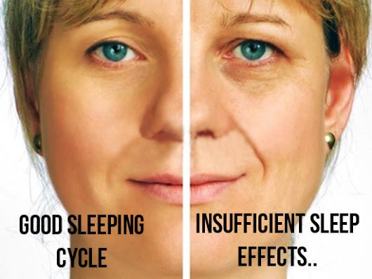 Perbezaan ketara kulit akibat kurang tidur