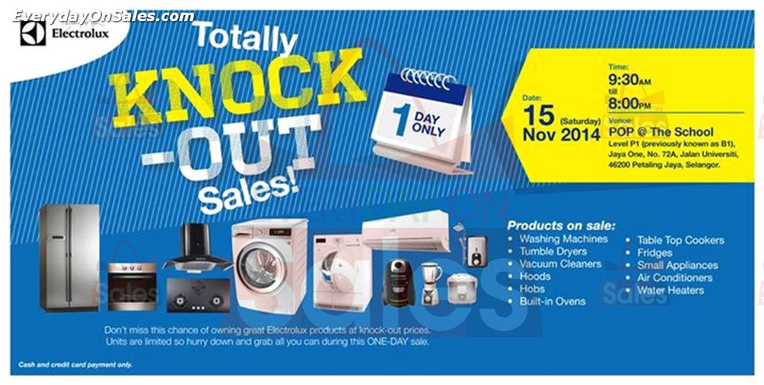 Warehouse Sales Electrolux