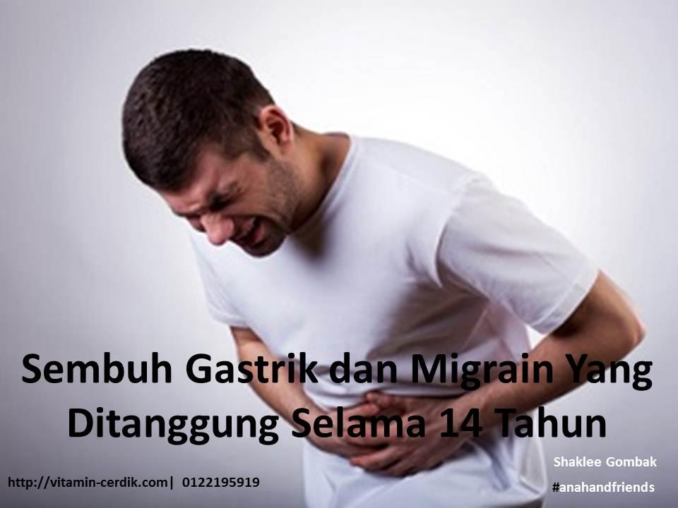 Sembuh Gastrik dan Migrain Yang Ditanggung Selama 14 Tahun