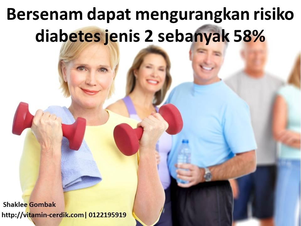 Senaman terbukti dapat mengurangkan simptom diabetes sehingga 58%