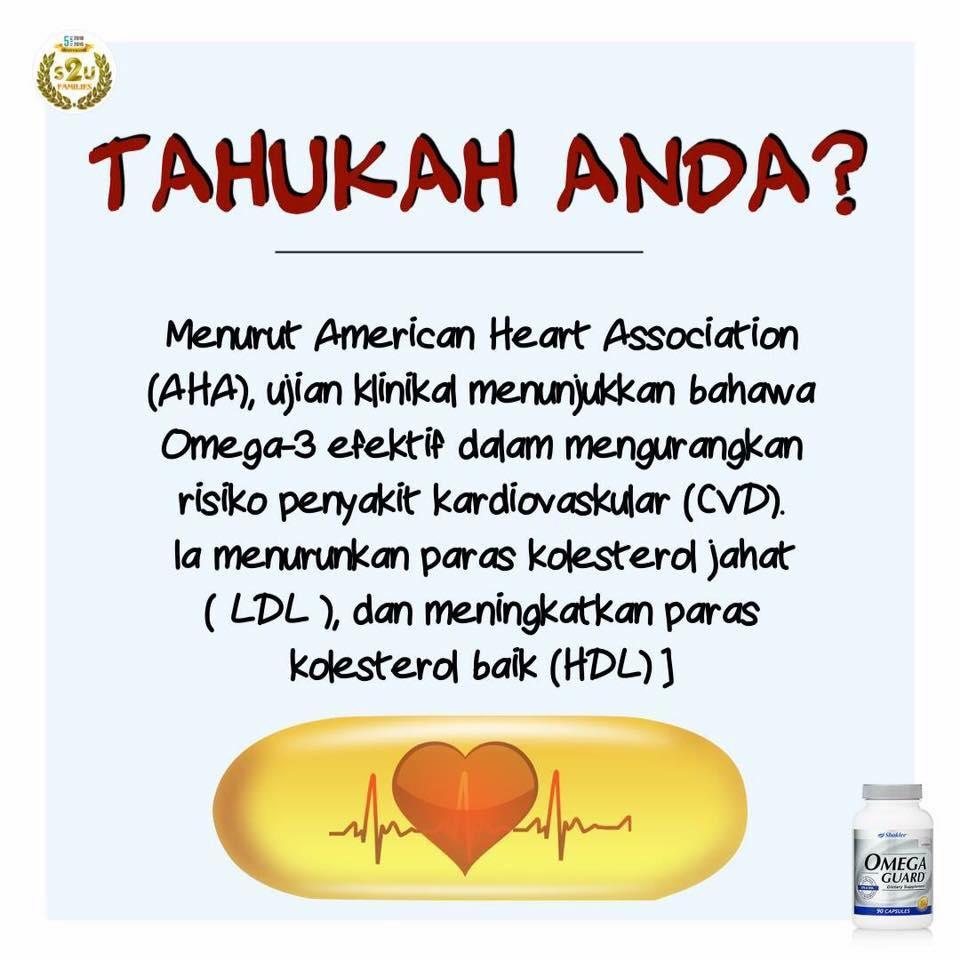 Minyak ikan dengan khasiat asid lemak omega 3 membantu kesihatan kardiovaskular