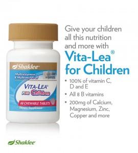 Vitalea For Children mengandungi kesemua khasiat vitamin dan mineral diperlukan oleh kanak-kanak
