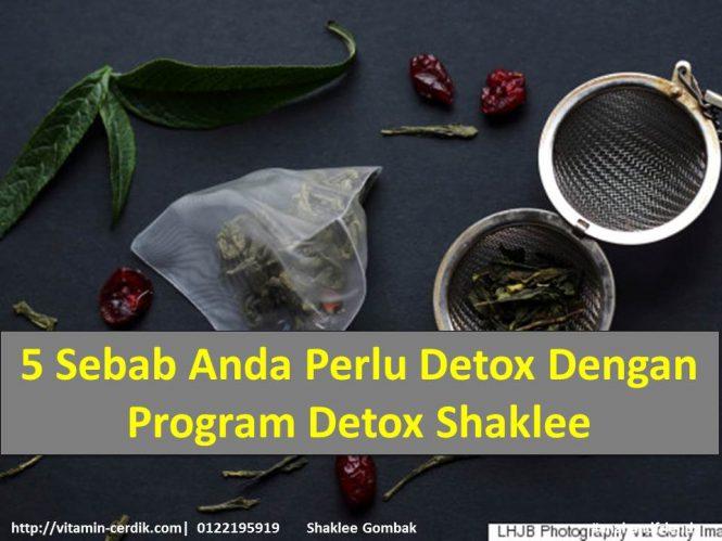 5 Sebab Anda Perlu Detox Dengan Program Detox Shaklee