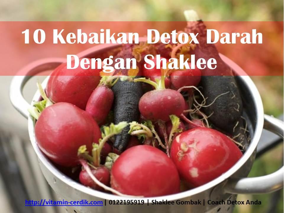 10 Kebaikan Detox Darah Dengan Shaklee