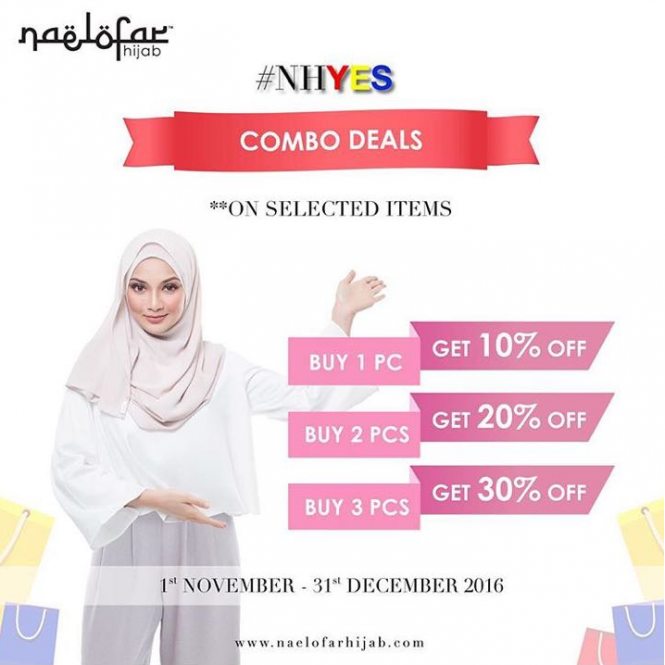 Naelofar Hijab Year End Sales 2016