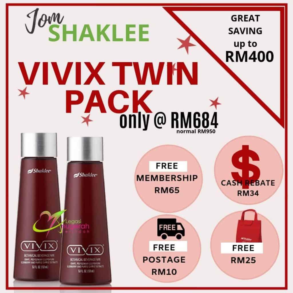 Promosi Keahlian Percuma Shaklee Dengan Vivix Twin