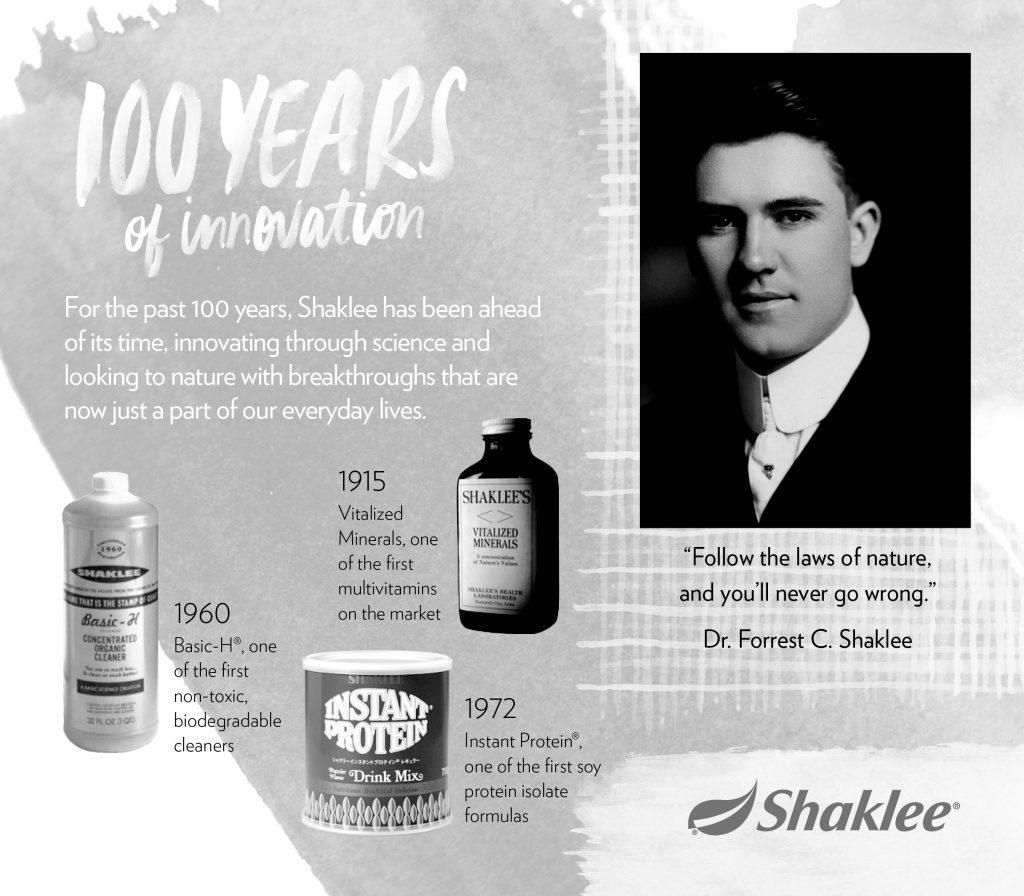 Antara produk terawal dicipta sebelum penubuhan syarikat Shaklee