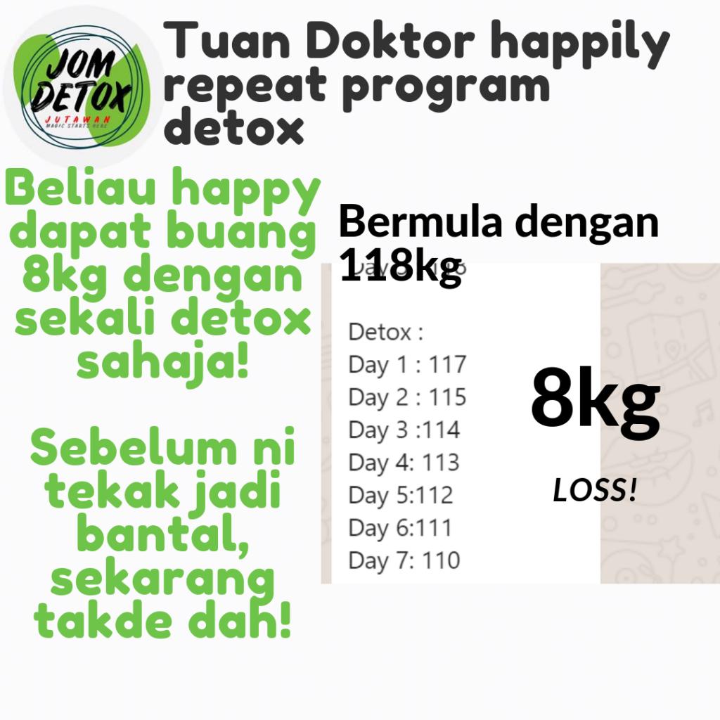 Dalam 12 hari sahaja boleh turun 8kg dengan JomDetoxJutawan