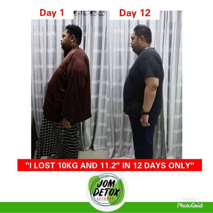Dalam tempoh 12 hari berjaya buang 10kg dengan detox Shaklee