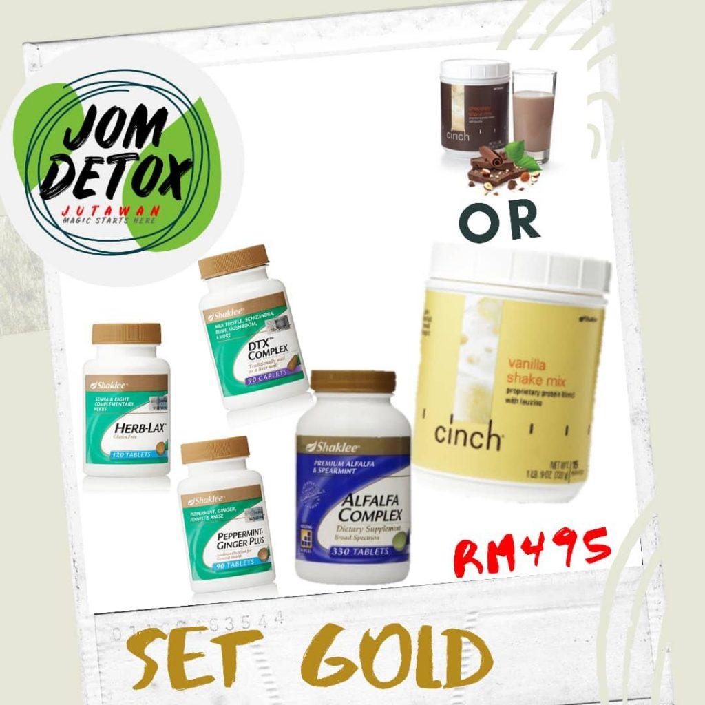 Set Gold Jom Detox Shaklee