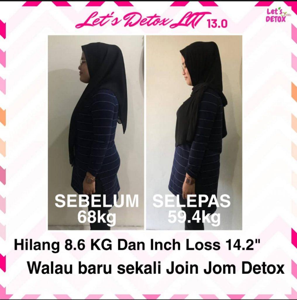 Pserta paling banyak turun berat, sebanyak 8.4kg dalam masa 12 hari