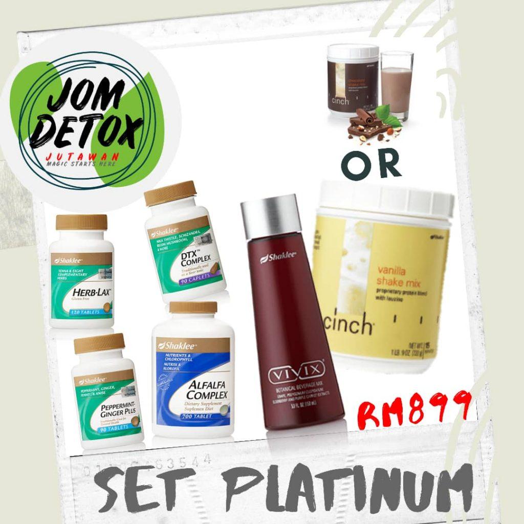 Set Platinum Jom Detox Shaklee