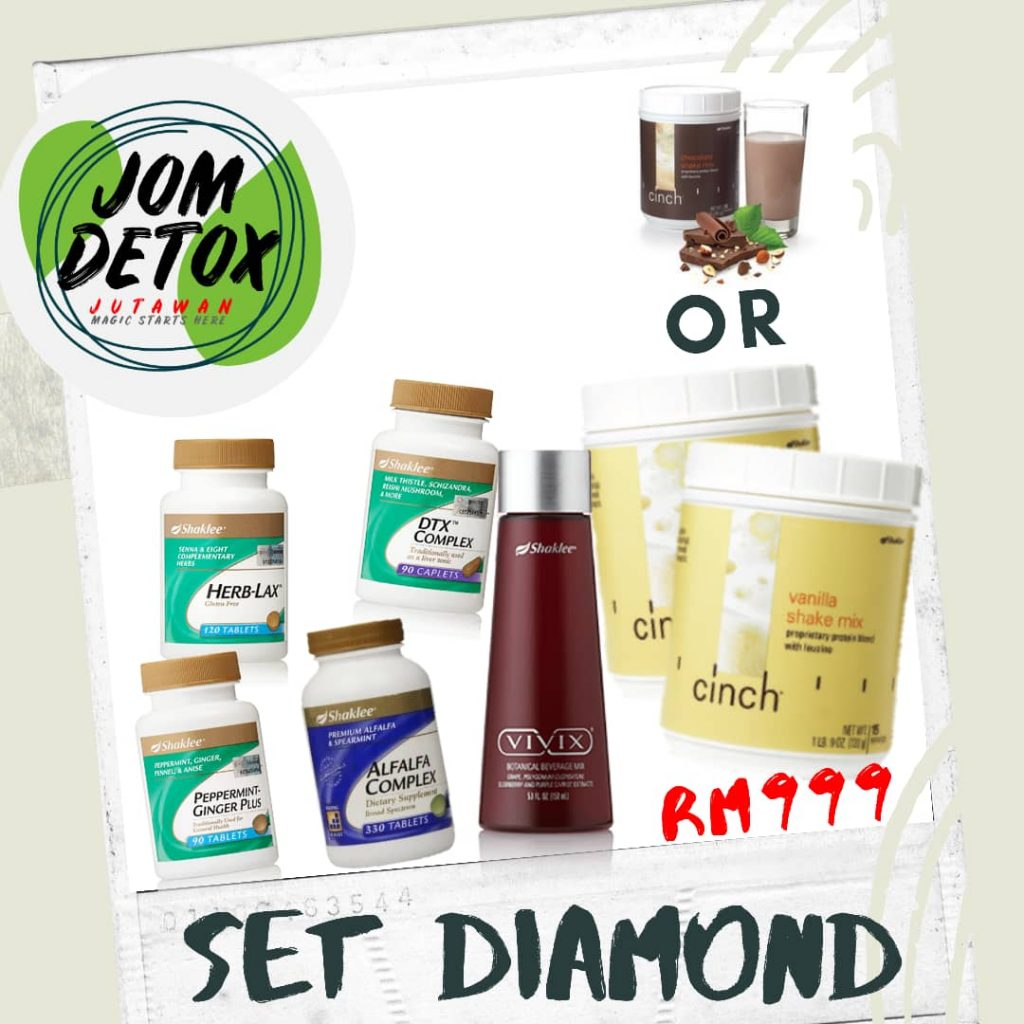 Set Diamond Jom Detox Shaklee