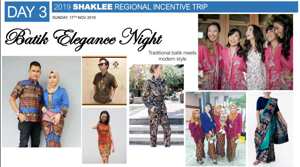 Malam Shaklee Family, dengan tema Batik