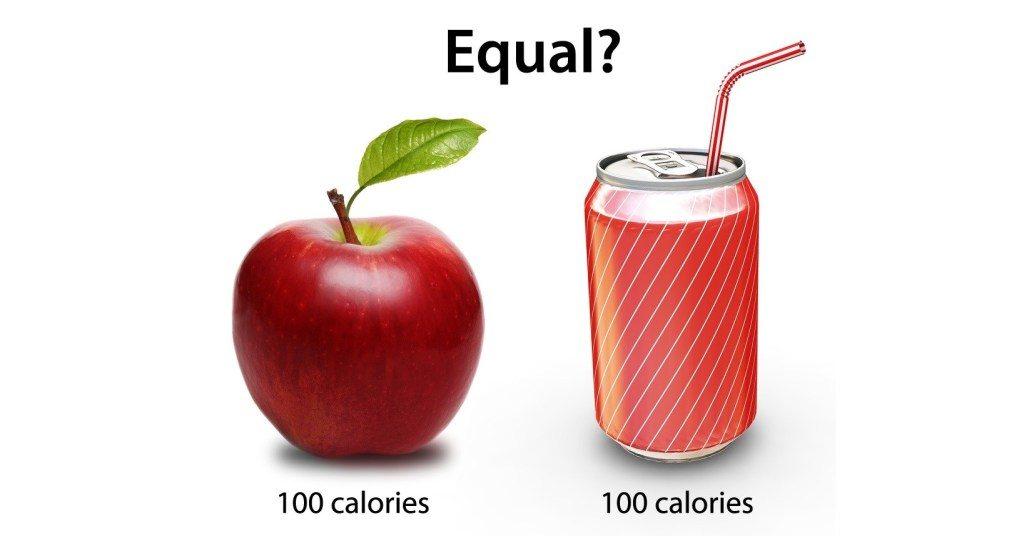 Tidak sama nilai nutrisi antara epal dan minuman soda