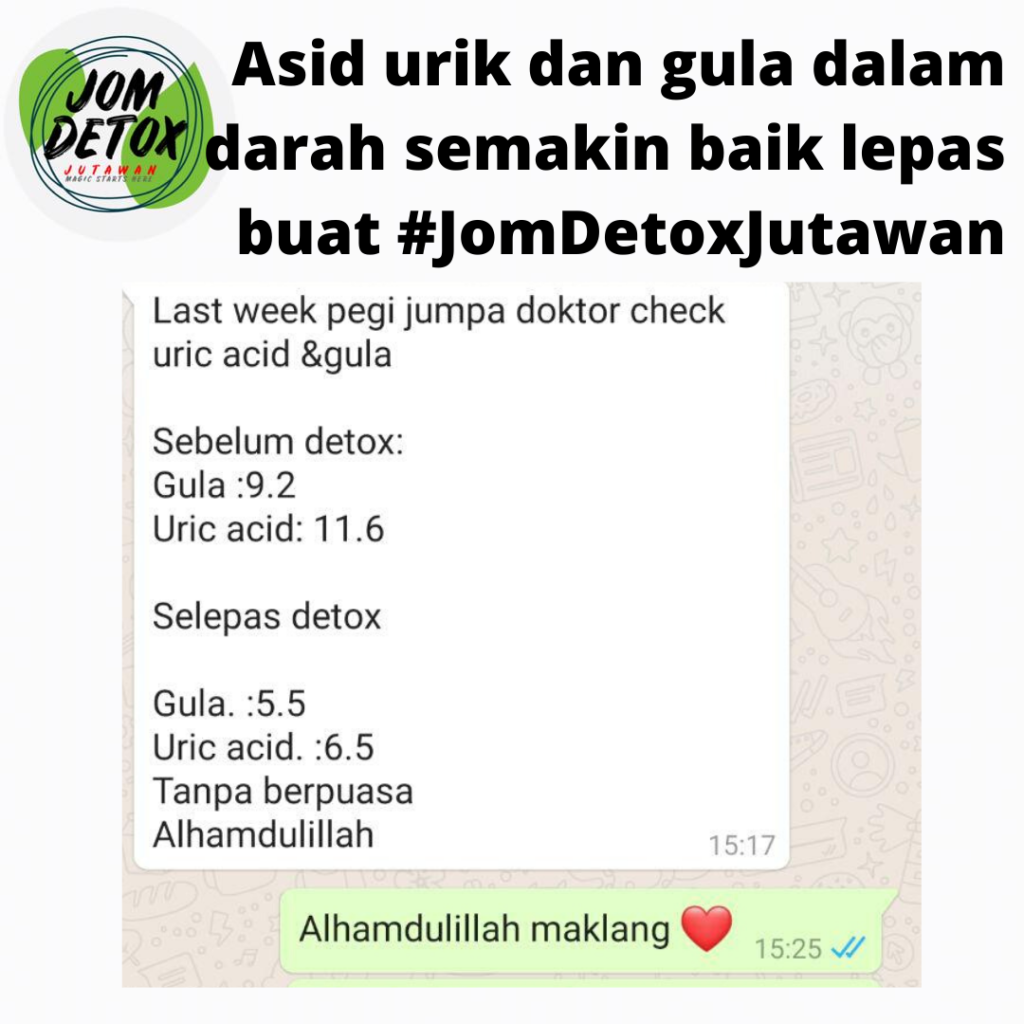 Diabetes dah normal asbab buat Detox Shaklee