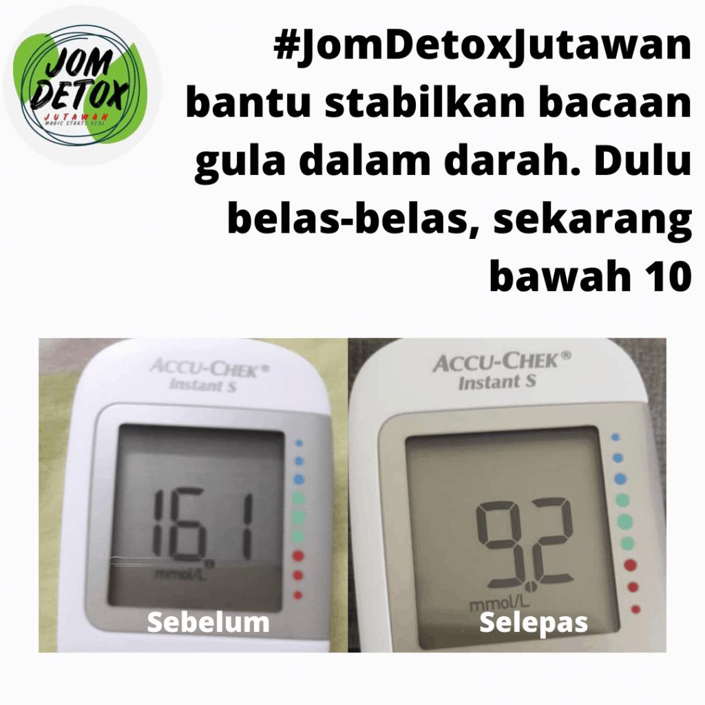 Stabil gula dalam darah lepas join Jom Detox Shaklee