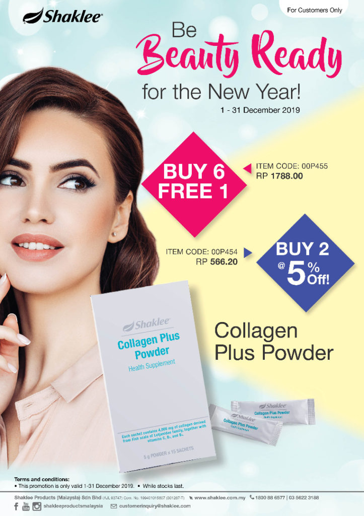 Promosi Shaklee Collagen Powder 2019