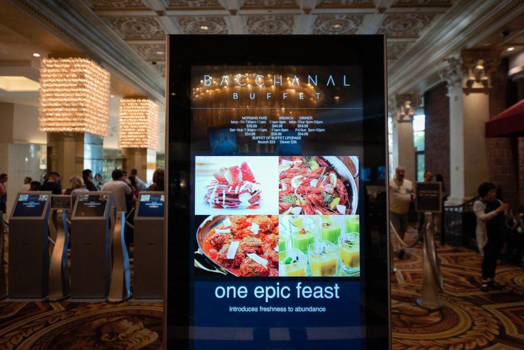 Buffet di Baccanal Buffet di Las Vegas dengan kos RM500 setiap orang