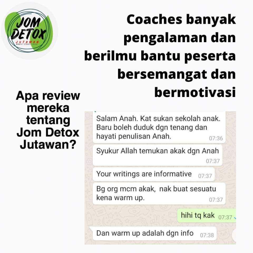 Coaches bersemangat dan berpengalaman akan guide anda