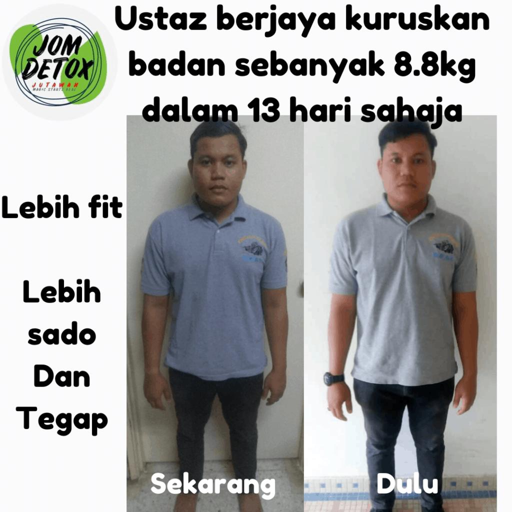 Ustaz turunkan 8,8kg dalam masa 12 hari dengan JomDetox