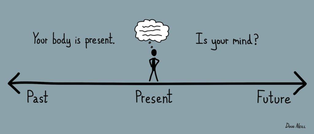 Tips untuk kaya adalah be in present moment