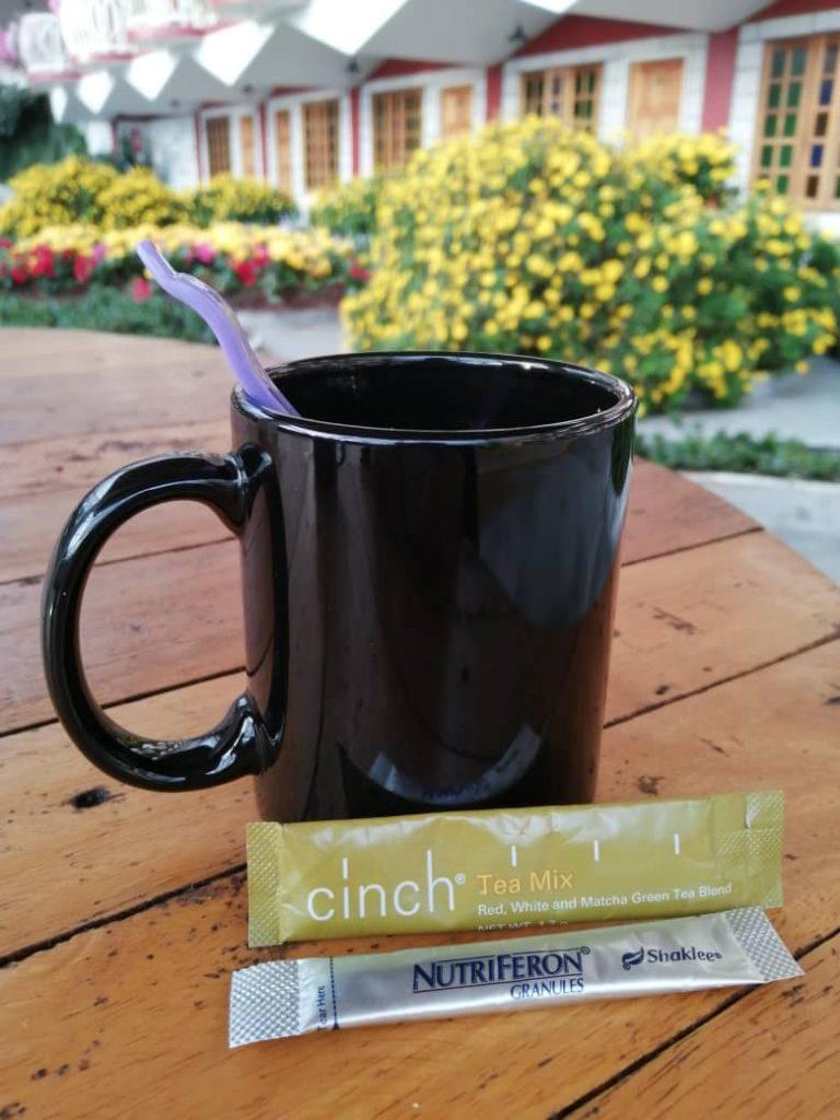 Cinch Tea diamalkan setiap hari untuk kuruskan badan dan tingkatkan tenaga dan alfa wave