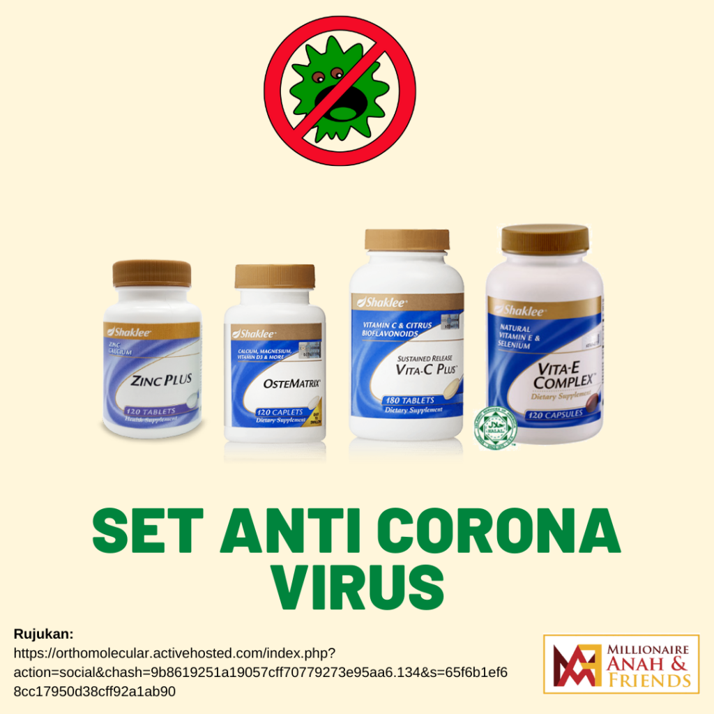Set Corona Virus Shaklee gabungan beberapa vitamin untuk imun booster