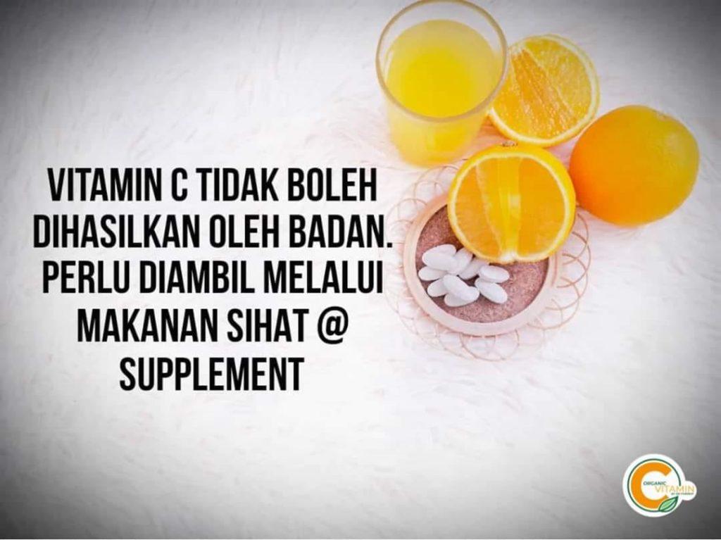 Badan manusia tak boleh buat sendiri vitamin C, kita perlu ambil daripada pemakanan dan suplemen