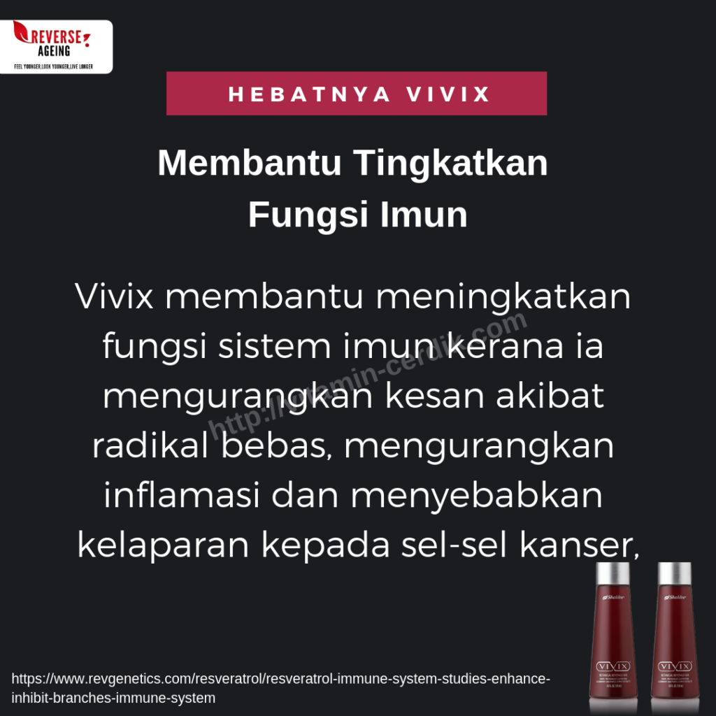 Vivix dengan khasiat polifenol dapat bantu tingkatkan fungsi imun
