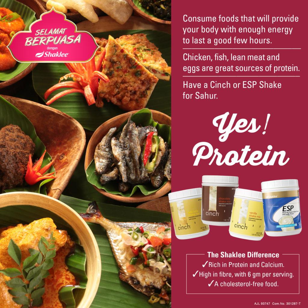Protein Cinch bantu proses berpuasa