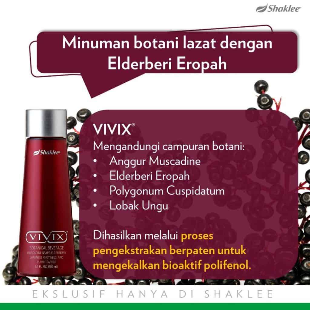 Vivix dengan khasiat Elderberi Eroph dapat bantu tingkatkan sistem imun, sangat bagus diamalkan ketika berpuasa