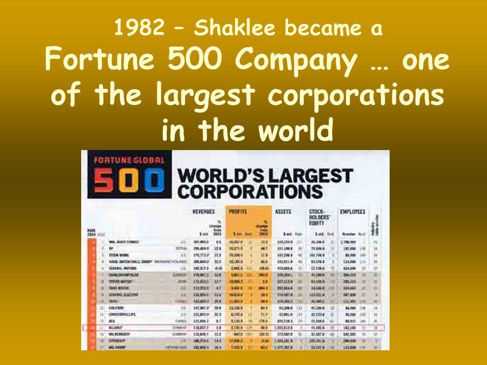 Shaklee tersenarai salah sebuah syarikat dalam Fortune 500 Company