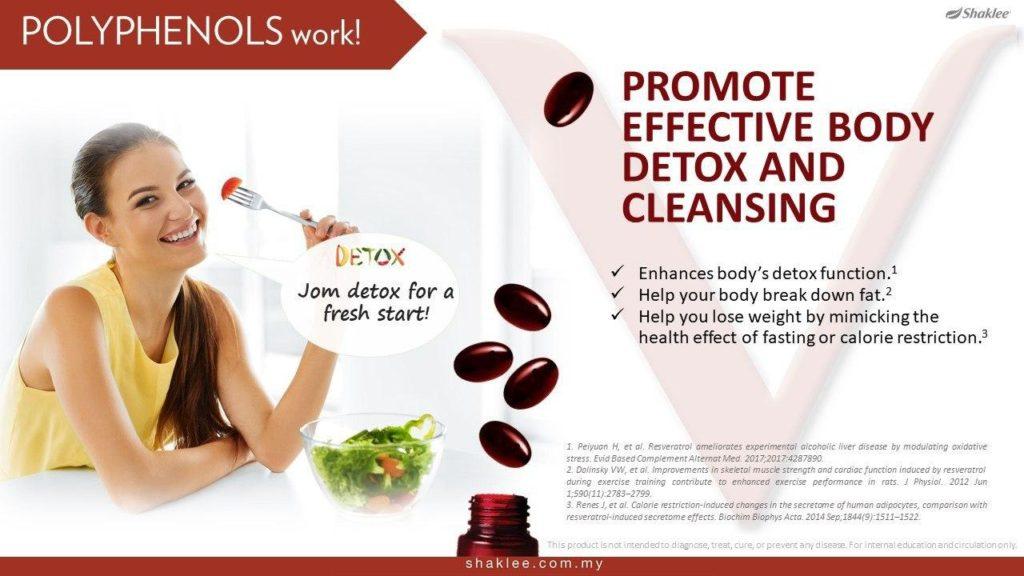 Mempromosi kecekapan tubuh melakukan proses detox dan pembersihan