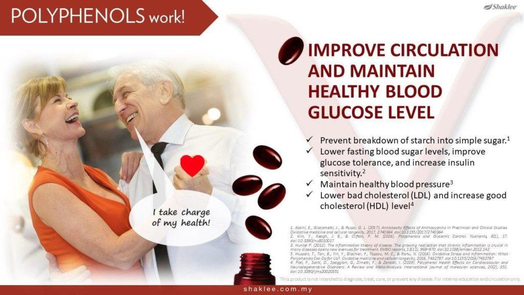 Memperbaiki peredaran darah dan memperbaiki kesihatan tahap gula dalam darah